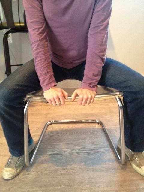 Pee on chair