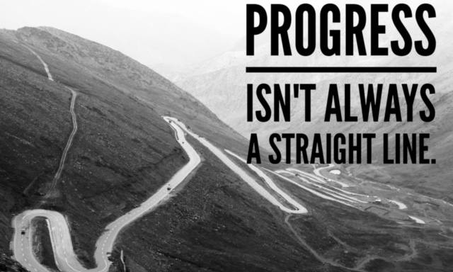 Progress isn't always a straight line