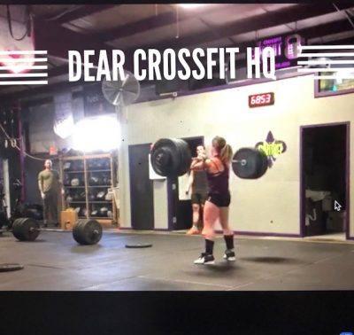Dear CrossFit HQ