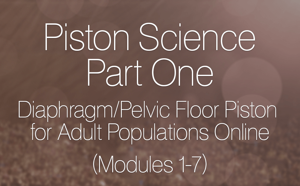 Diaphragm/Pelvic Floor Piston for Adult Populations Online