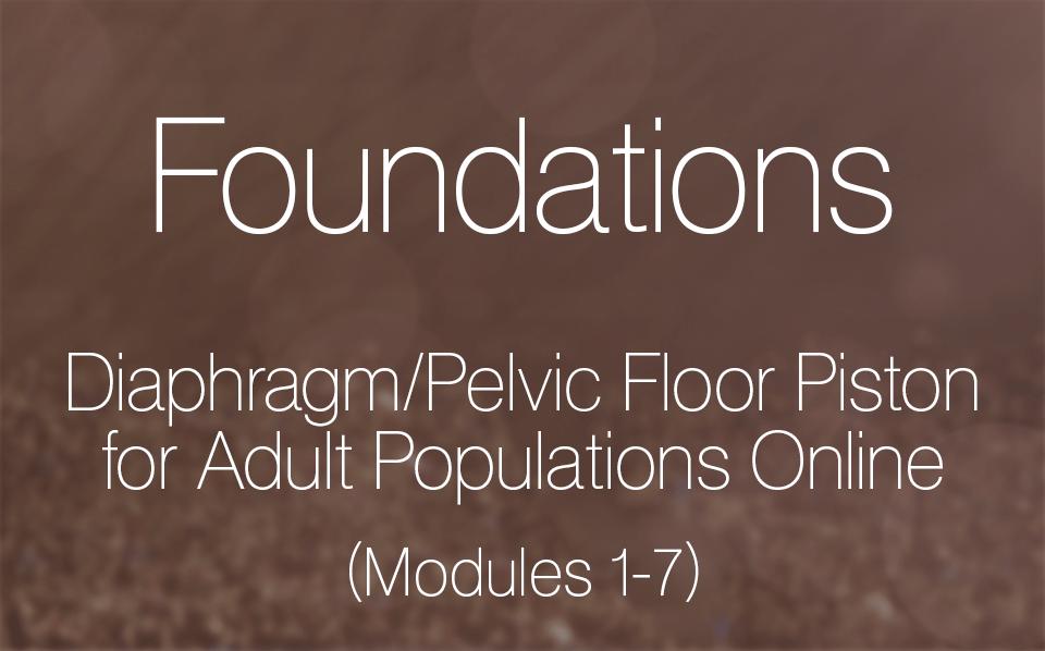 Diaphragm/Pelvic Floor Piston for Adult Populations Online